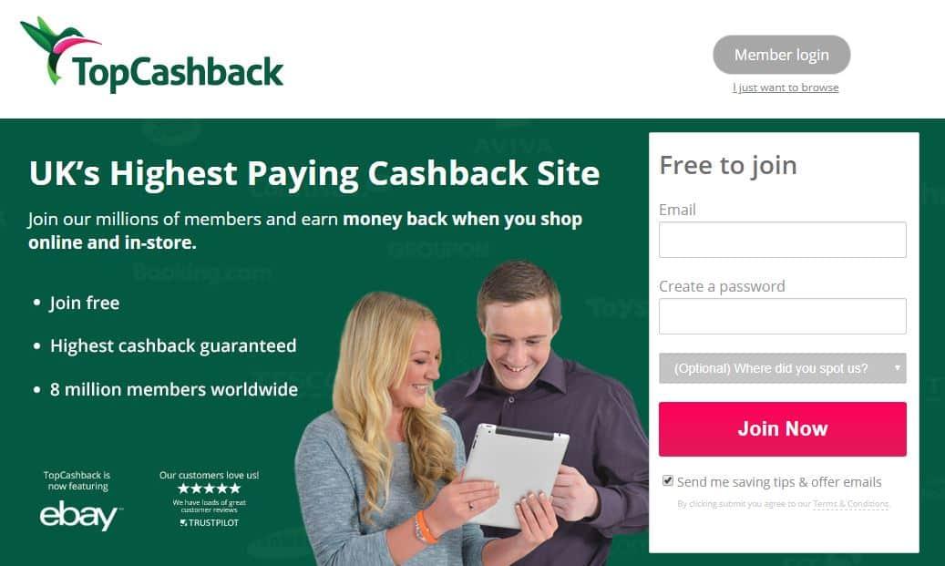 TopCashback Cashback Website
